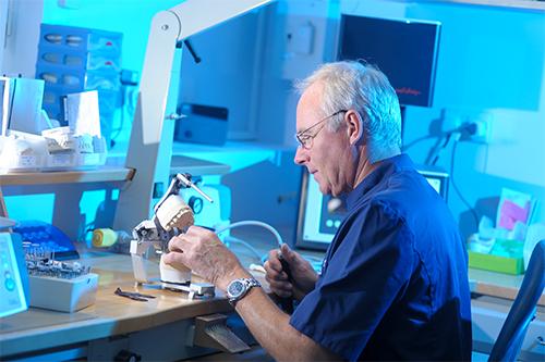 Wade Dental Laboratory technician at work