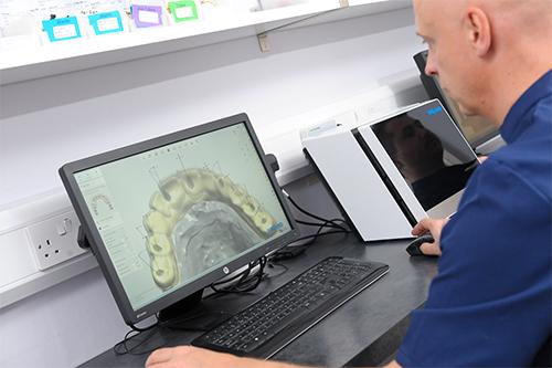 Nowak at computer studying digital model